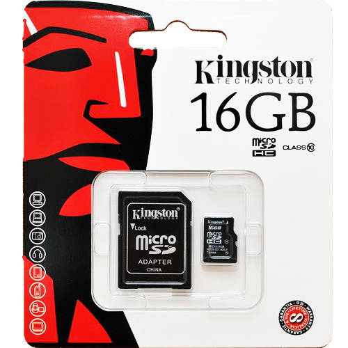KINGSTON Micro SDHC 16 GB class 10
