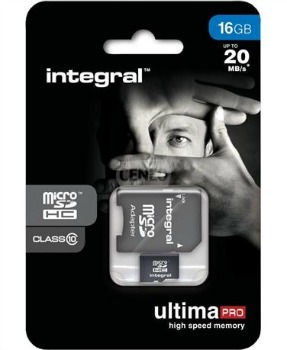 INTEGRAL UltimaPro Micro SDHC karta 16GB Class 10