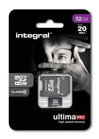 INTEGRAL UltimaPro Micro SDHC karta 32GB Class 10 + SD adaptéru