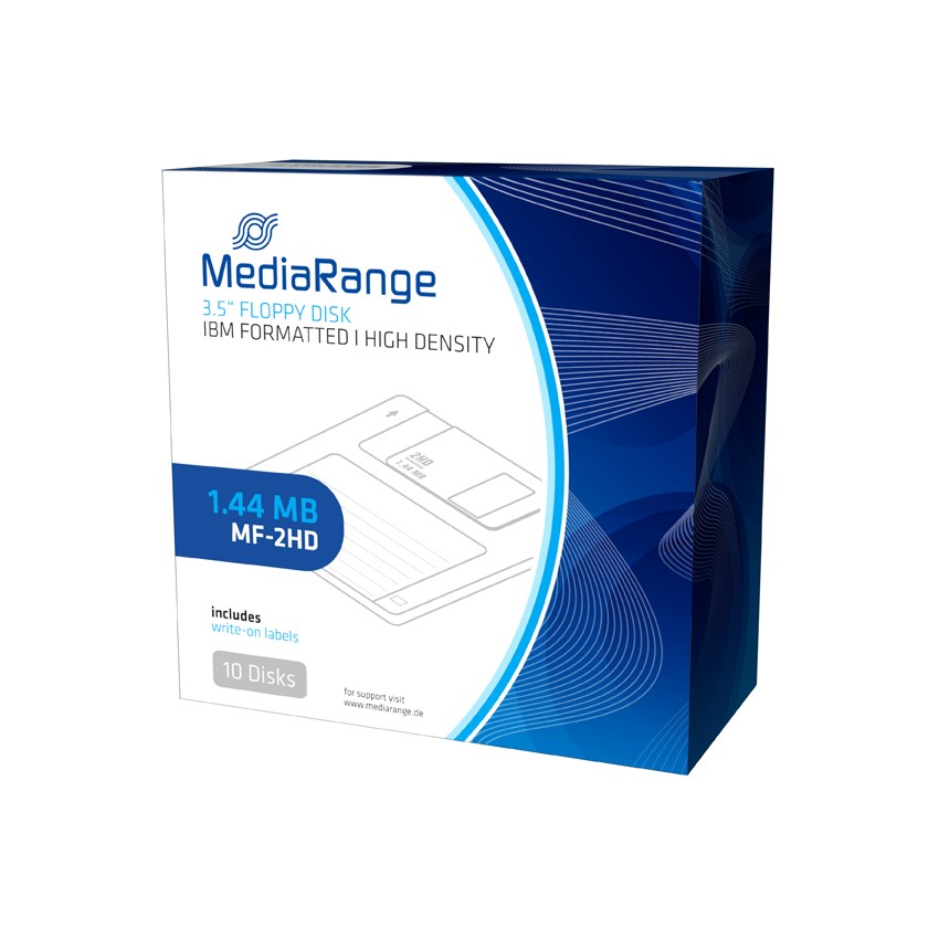 Mediarange Floppy Diskette 1,44MB, Black, 10PK